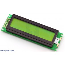 LCD-display 16x2 zwart/groen